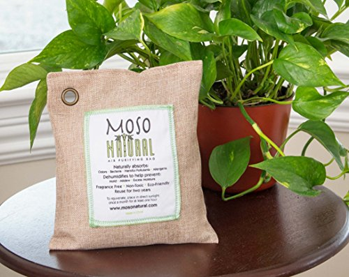 Moso Natural Air Purifying Bag 500-Grams. Natural Color. Natural Odor Eliminator. Fragrance Free, Chemical Free, Odor Absorber. Captures and Eliminates Odors. by Moso Natural (Image #2)
