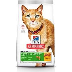 Hill's Science Diet, Alimento para Gato Adulto 7+ años Youthful Vitality, Seco (bulto) 1.4kg