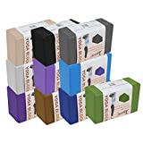 """Yogavni Set of Two-Yoga Blocks-Featherweight and Comfy grip, 4"""""""