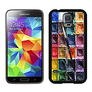Nice Top Samsung Galaxy S5 Case Watercolor Sets With Brushes Durable Soft Silicone Black Phone Cover Accessories