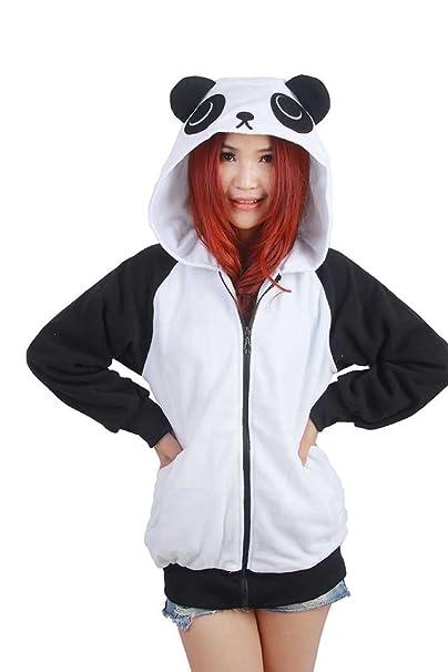 Vincenza - Chaqueta - Capucha - para Mujer Negro Panda Small