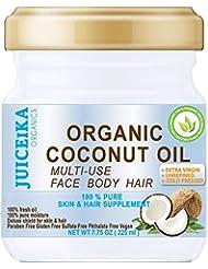 100 % PURE ORGANIC COCONUT OIL. EXTRA VIRGIN / UNREFINED COLD PRESSED. 100% Pure Moisture . Skin & Hair Supplement. 7.75 OZ ( 225 ml )