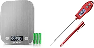 Etekcity LED Food Scale and Red Meat Thermometer
