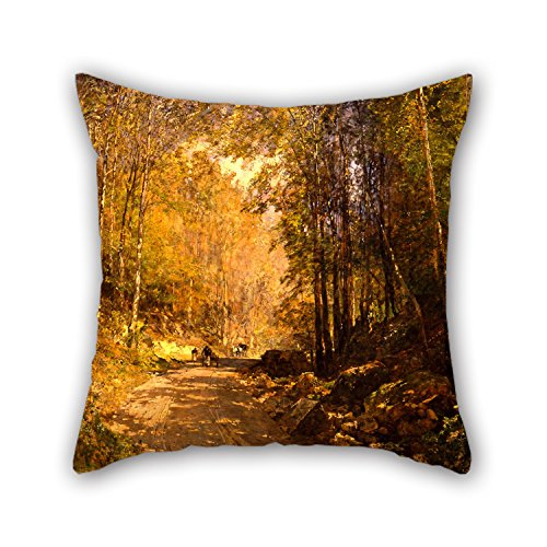 [Artistdecor Oil Painting Emil Jakob Schindler - Forest Lane Near Schärfling Pillow Shams ,best For Home Office,outdoor,lover,chair,son,kids Boys 18 X 18 Inches / 45 By 45 Cm(two] (Bike Lane Costume)