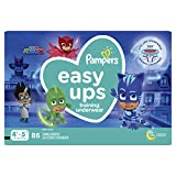Pampers Easy Ups Diapers Size 6 (4T-5T), Pull On Disposable Training Pants for Boys, Giant Pack, 86 Count