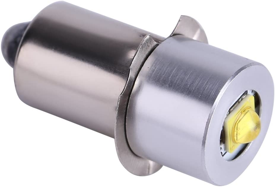 Asixx Bombilla LED, LED Linterna Bombilla, Bombilla de luz, 6-24V, 200~210lm, para Linternas, para Usar En El Hogar, Viaje