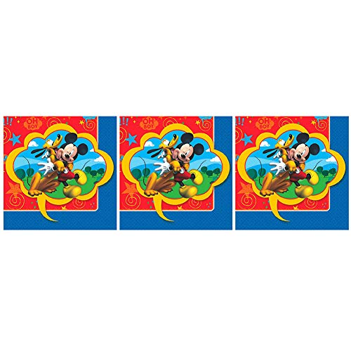 Mickey Mouse Beverage Napkins 16ct - Pack of 3