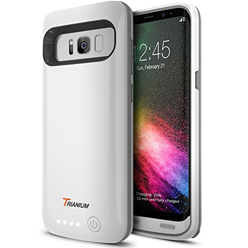 Galaxy S8 Battery Case, Trianium Atomic Pro s8 Charging Battery Pack for Samsung Galaxy S8 5.8-inch Phone - 4500mAh Extended Battery Fast Charger [Quick Charge Pass-Thru] Protective Case Power Pack