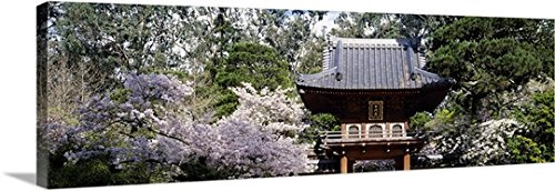 Canvas On Demand Premium Thick-Wrap Canvas Wall Art Print entitled Low angle view of entrance of a park, Japanese Tea Garden, Golden Gate Park, San Francisco, California 60