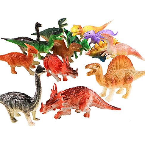 12 Assorted Large Dinosaur Figures – Great Toy For Kids, Boys, Girls, Play, Decoration, Gifts