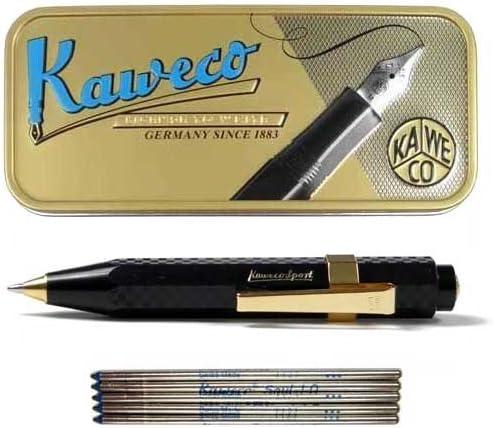 colore Nero Kaweco Sport Chess Confezione regalo con penna a sfera e 5 ricambi