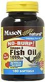 Mason Vitamins No Burp Omega 3 Fish Oil, 1000 Mg, 60 Count