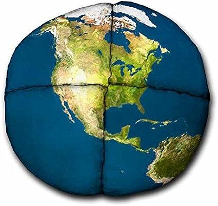 Hacky Sack – Pelota con diseño de globo terráqueo realista, 4 ...