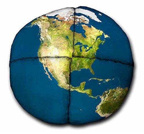 Hacky Sack?Realistische Globe 4Getäfelten Wildleder