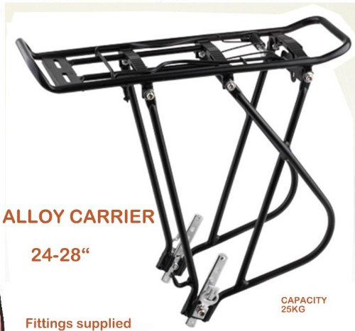 HEAVY DUTY Bicycle cycle bike rear Pannier rack carrier 20kg 26 27' luggage Laxzo