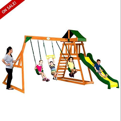 木製スイングセットCedar Kidsアウトドア裏庭セーフplaycenters Garden Fun Games – Skroutz B075MGFB9D
