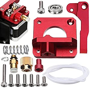 SIQUK Upgraded MK8 Extruder Aluminum Drive Feed Replacement 3D Printer Extruders Kit for Creality CR-10, CR-10S, CR-10 S4, RepRap Prusa i3, 1.75mm (Bonus: 1 Meter PTFE Teflon Tube) from SIQUK