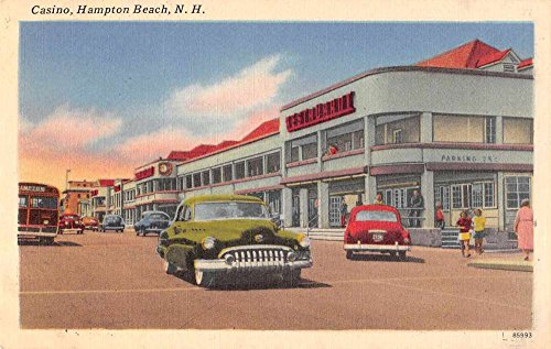 - Hampton Beach New Hampshire Casino Street Scene Antique Postcard J61363