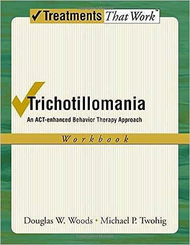 Amazon.com: Trichotillomania: An ACT-enhanced Behavior Therapy ...