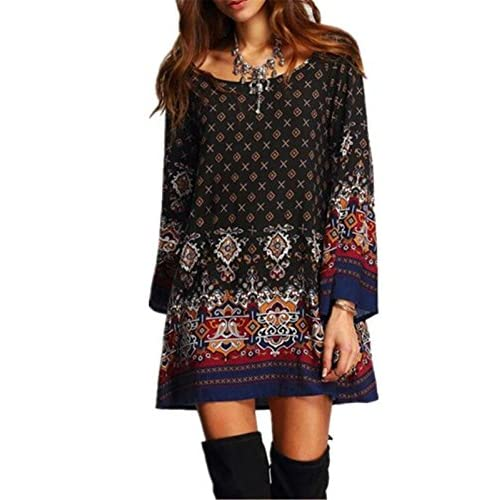 Aimur Women\'s Traditional Boho Style Mix Printed Baby Doll ...