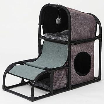 GKPLY 4 En 1 Sala De Actividades para Gatitos Combinación Desmontable Cama De Gato Torre Multiusos Gato Torre Trepador Adecuado para Perros Y Juegos: ...