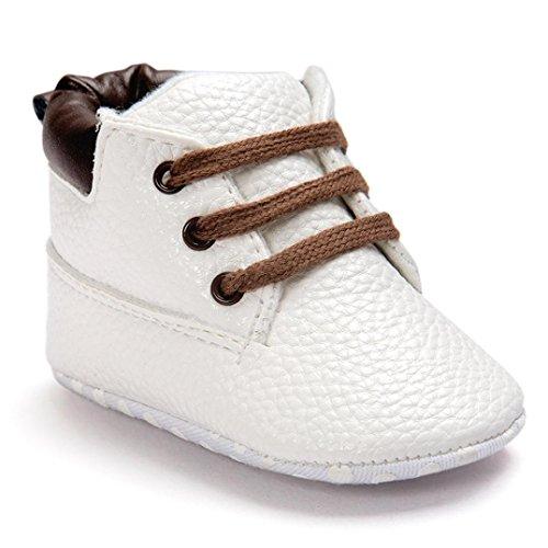 Baby Wanderschuhe,Chshe ROMIRUS Gute Qualität Beliebt Leder Weich Sicherheit Anti - Rutsch leicht Dauerhaft Gemütlich Kleinkind Schuhe Weiß
