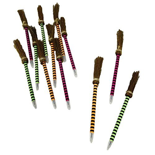 Fun Express Neon Striped Witches Broom Pens,
