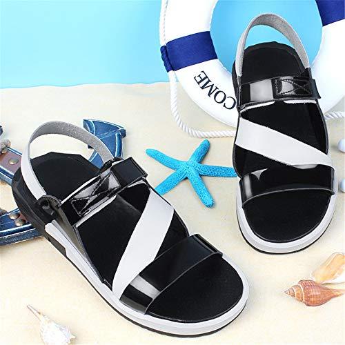 In Estate Scarpe Scarpe Nero In Neri All'aria Maschili spiaggia Sport Spiaggia 0 Da 24 Leggere CM Sandali 27 0 pantofole Pelle da Aperta Pelle Sandali 6dq861