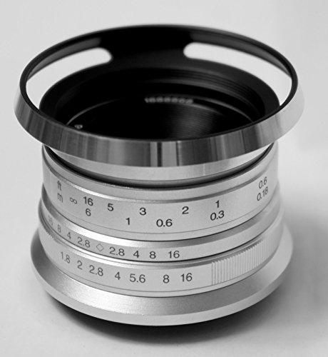 - Hengyijia 25mm F1.8 (Silver) HD.MC Manual Focus Lens for Fujifilm FX X mount Camera ...