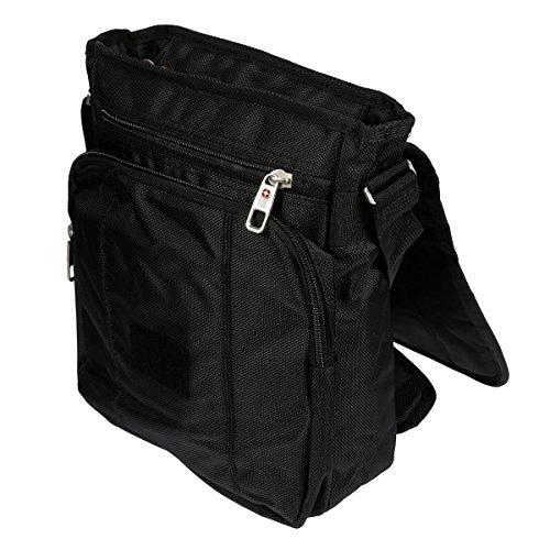 Christian Wippermann hochwertige Umhängetasche Überschlagtasche im Hochformat für Herren und Damen