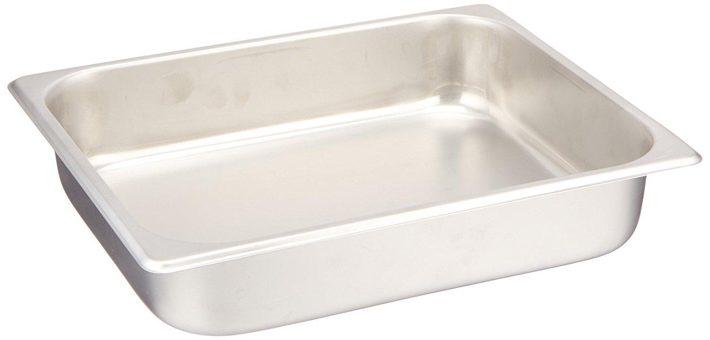 Standard Stainless Steel Half-Size Steam Table Pan - 2-1/2'' Deep (24 gauge). (2) Pack