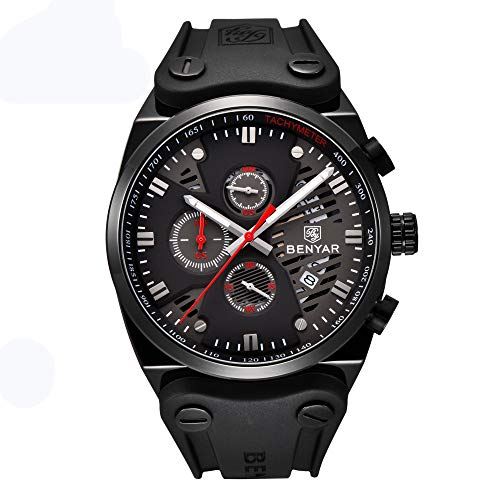 2018 Fashion Waterproof Outdoor Multifunction Sports Chronograph Wrist Watch Calendar Men Quartz Watches