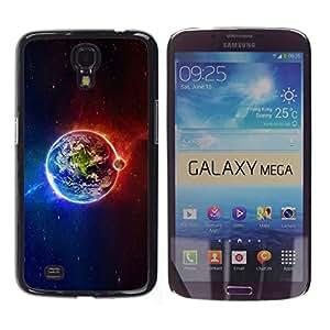 TopCaseStore / la caja del caucho duro de la cubierta de protección de la piel - Planet Earth Iridescent Magnetic Cosmos - Samsung Galaxy Mega 6.3 I9200 SGH-i527