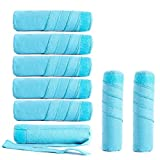 STFLY Sleep Hair Curler Absorbent Heat Free Curlers, Curl Your Hair Without Damaging, Includes 8 Large (6 Inch) Rollers for Long Thick or Curly Hair (6in, Blue)