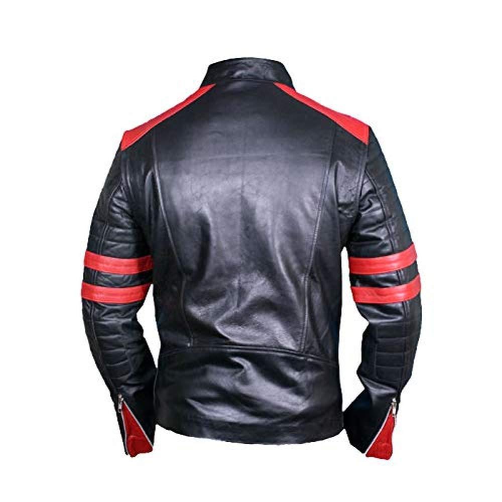 Amazon.com: Mazdurr Outfits Chaqueta de cuero para hombre ...