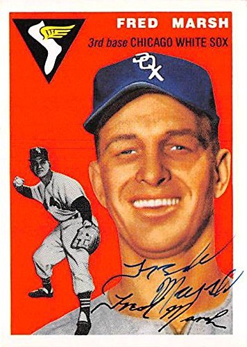 Autograph Warehouse 345164 Fred Marsh Signed Baseball Card - Chicago White Sox 1994 Topps Archives 1954 No. 218   B075GTK9QK