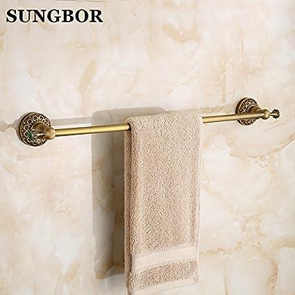 BATHAE Latón antiguo toalla desechable Bar Baño Verde Piedra de toallas de baño estante de la