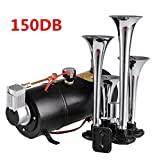 Best Compressor Kit For Air Horns - COOCHEER Train Air Horn Kit, 4 Trumpets 100 Review