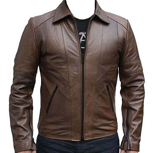 Cheap CoolHides Sparks 2 Tones Leather Jacket XS-5XL for sale