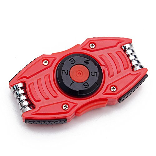 Fresh design 4 in 1 soprts car dice finger spinner for EDC, ADHD Focus Anxiety Relief (Red)