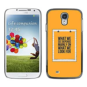 Paccase / Hard Protective Case Cover for - Yellow Text Poster Meaning - Samsung Galaxy S4 I9500