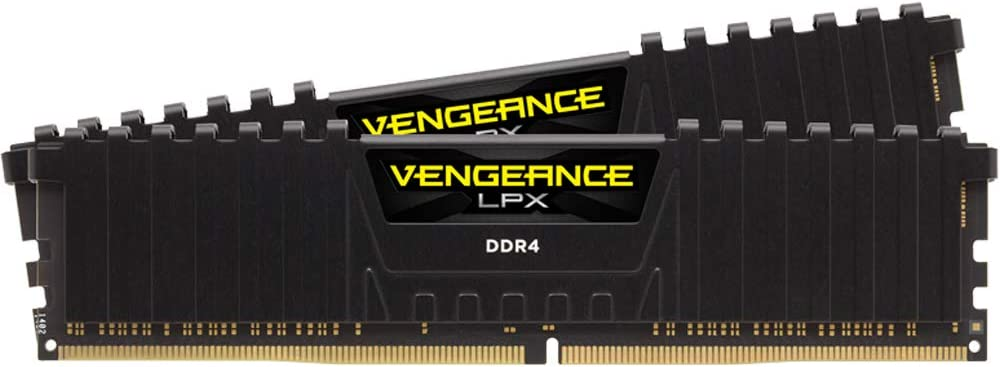 Corsair Vengeance LPX 16GB (2 X 8GB) DDR4 3000 (PC4-24000) C16 1.35V Desktop memory - Black PC Memory