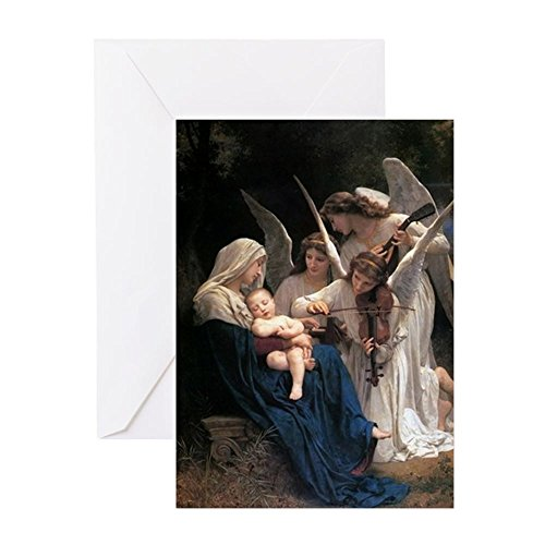 CafePress - Song Of The Angels Greeting Cards - Greeting Card (20-pack), Note Card with Blank Inside, Birthday Card Glossy