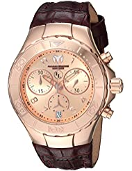 Technomarine Womens Eva Longoria Quartz Gold and Leather Casual Watch, Color:Brown (Model: TM-416035)