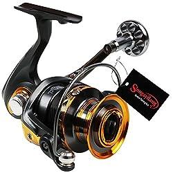 Sougayilang Fishing Reel Spinning Big Spool 13+1BB