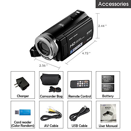 ORDRO HD Camcorder 1080P 30FPS 20MP Infrared Night Vision Digital Video Camera by ORDRO (Image #6)