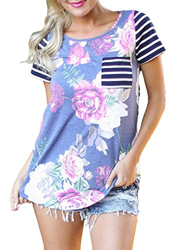 LOSRLY Floral Printed Striped Blouse product image