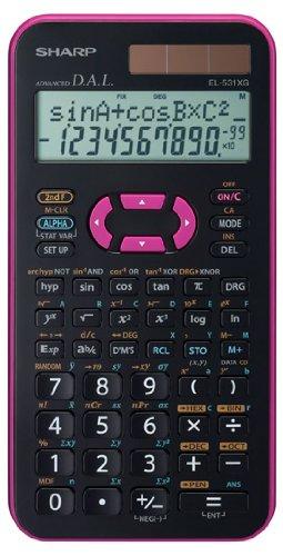 EL-531 XG-PK, wissenschaftlicher Schulrechner, 2-zeilig, Farbe pink, SEK I&II, 272 Funktionen, TWIN-Power
