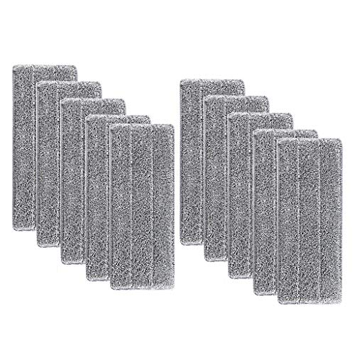 (m·kvfa Replacement Mop Pad Microfiber Washable Spray Mop Dust Mop Household Mop Head Clean Wet Mop Pads and Dust Scraping Tool (10Pcs))