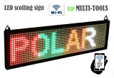 exp MULTI-TOOLS LED display MIX color with WiFi connection, LED scrolling message sign, BRIGHT and in new light auminum housing. lenght 13.5''